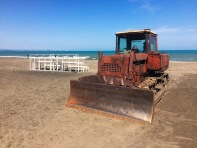 Random bulldozer on Burgas beach